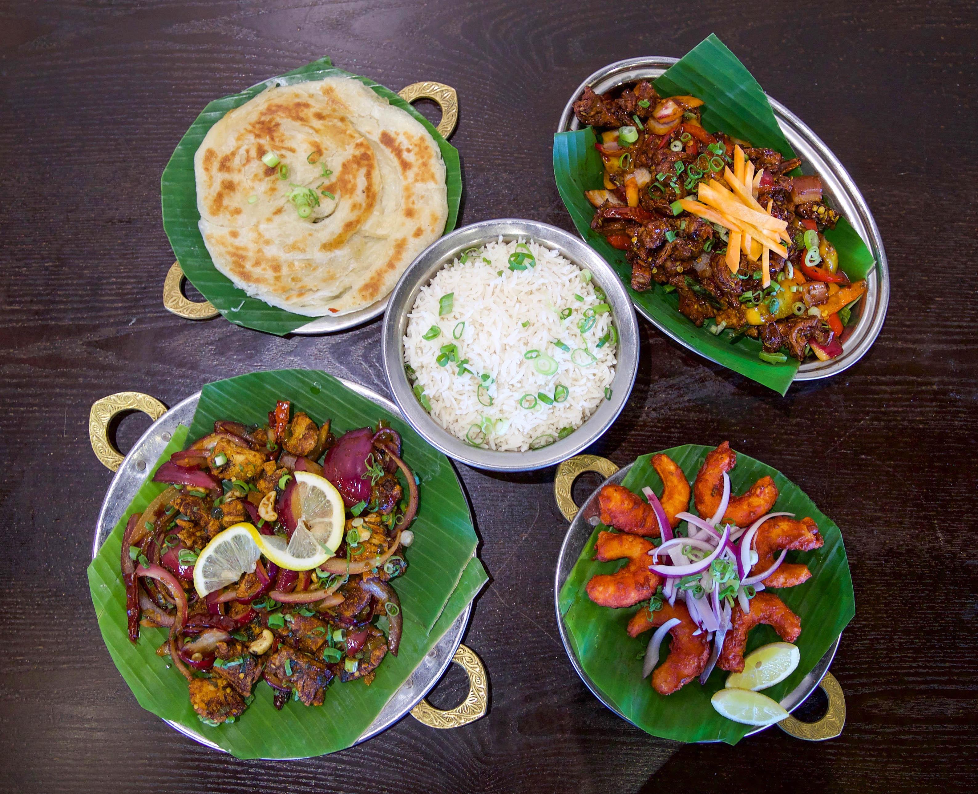 Vegetarian Delight Tie The Thali